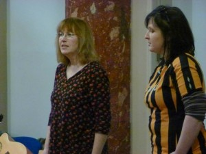 Singing with Hazel of Hissyfit, at Hull Maritime Museum